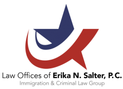 An Immigration Lawyer Erika N Salter Logo - immigration and criminal lawyers-law attorney services